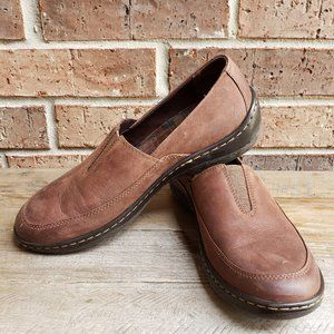 Born Lex Cocoa Brown Nubuck Leather Slip On 9.5